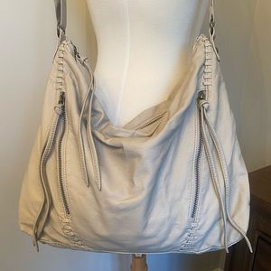 Soft Faux Leather Shoulder Bag Creamy Taupe